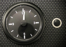 High Quality Car Analogue Clock Black Face with Black Bezel 12v 24v