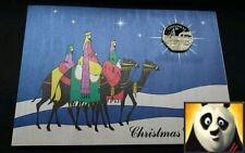 1990 ISLE OF MAN Christmas Diamond Finish 50p Lady of Mann Ferry Coin Card Xmas