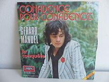 GERARD MANUEL Confidence pour confidence 45 V 4161