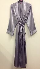 LADIES EX STORE LONG SATIN DRESSING GOWN/ROBE IN UK SIZES 8 to 22