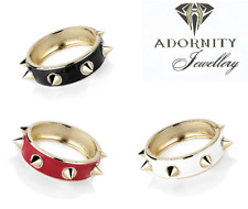 enamel and gold colour metal stud hinge bangle. VARIOUS COLOURS bracelet cuff