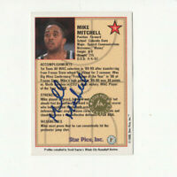 1990 Star Pics Mike Mitchell AUTOGRAPH Rookie Card!! RARE Colorado St. RC AUTO!!