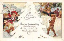 # M2373    CHRISTMAS    POSTCARD,  CHILDREN