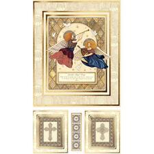 "Religious Heaven Guardian Angel Prayer Cotton Fabric QT Heavenly 24""X44"" PANEL"