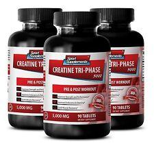 Creatine Monohydrate - Creatine Tri-Phase 5000 mg - Better Performance Pills 3B