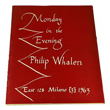 Monday in the Evening by PHILIP WHALEN ~ First Edition 1963 ~ Poetry 1st Poems