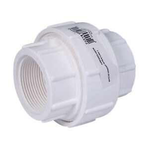 PVC Union Coupling Pipe Fitting; FIP; White Plastic