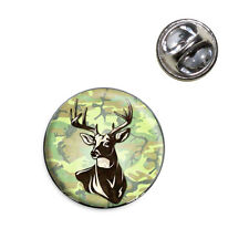 Deer Hunting Green Camouflage Lapel Hat Tie Pin Tack