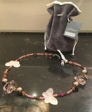 Dominique GUINABERT RRP£60+.Butterfly Necklace SWAROVSKI  CRYSTALS,NEW