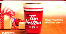 TIM HORTONS CANADA GIFT CARD CHRISTMAS CUP 2017 NO VALUE FD-59745 new!