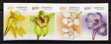Australie 2014 indigènes Orchidées adhésif Bande de 4 Non montés excellent état
