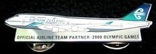 AIR NEW ZEALAND 747-400 AIR LINE PLANE PIN BADGE SYDNEY OLYMPIC GAMES 2000 #284