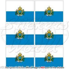 """San Marino bandiera dello stato 40 mm (1.6"""") Mobile Cellulare Mini Adesivi, Decalcomanie x6"""