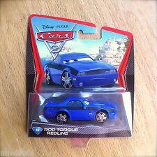 Disney PIXAR Cars 2 ROD TORQUE REDLINE # 16 diecast blue Mustang Challenger