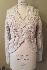 NEW WITH TAGS AZIZA BEIGE/CREAM HAND KNIT SWEATER