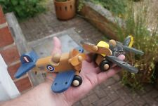 2 Toy Wooden Military Airplanes Sopwith Camel Wooden Planes