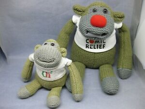 PG TIPS MONKEY rare large big old Comic Relief and a small one