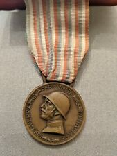 Wwi Italy Service Medal 1915-1918 Bronze with Ribbon