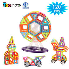 120Pcs Magnetic Tiles Sets Building Blocks Educational Toys for Kids Baby Gift