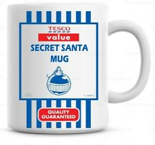 Secret Santa Gift, Tesco Value Mug Novently Fun Funny Cheap Gift  Christmas Mug