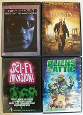 Sci-Fi Movie Dvd Lot: Terminator 3, I Am Legend, The SciFi Invasion, Aliens in T