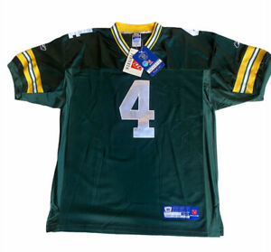 New with Tags Reebok Favre Green Bay Packers Jersey Sewn Patches Sz 50 Authentic