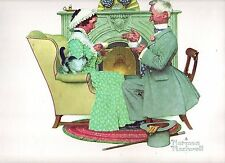 Norman Rockwell Print Four Season of Love: Gaily Sharing Vintage Times