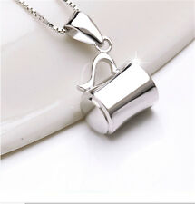 Hot New Lady Fashion A Cup Of Love Pendant 925 Sterling Silver Necklace CT127