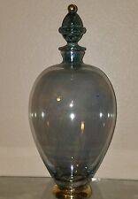 Italian Cristallerie light blue decanter
