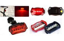 New 6 Mode 5 LED Tail Rear Safety Warning Flashing Bike Bicycle Flashlight Light