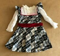 Nellie holiday dress American Girl doll clothing black plaid Samantha outfit