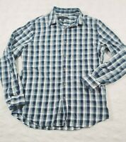 Banana Republic Mens Large slim fit Button Front Plaid Long Sleeve shirt