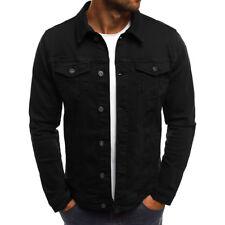Vintage Men's Slim Fit Classic Retro Denim Jean Coat Jacket Casual Outwear Tops