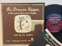"Langston Hughes The Dream Keeper VG+ FOLKWAYS 10"" with BOOKLET Black Americana"