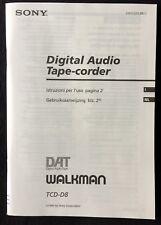 Orig. SONY TCD-D8 ★ Istruzioni per l'uso / Gebruiksaanwijzing ★ ITAL & DUTCH!