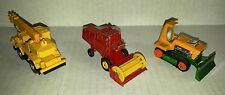 Tomica #2 Crane / Matchbox Lesney #65 Claas Harvester  / Big Bull Bulldozer LOT