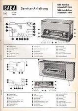 SERVIZIO manual-für SABA Meersburg Automatic 125, petto BREISGAU AUTOMATICA 125