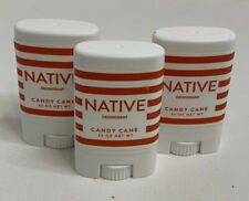 Native Deodorant Candy Cane .35oz * Gym or Travel Size * Lot of 3