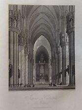 ITALIA. MILAN, CATHEDRAL. GRABADO ORIGINAL DE HAKEWILL, 1820