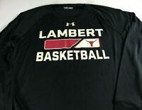 Lambert Longhorns Basketball Shirt Mens Large Long Sleeve Under Armour Heat Gear