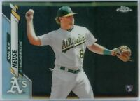 2020 Topps Chrome Sheldon Neuse REFRACTOR Rookie Card #61 Oakland A's 2B