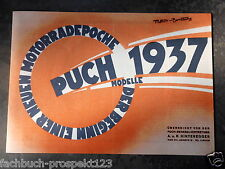 PUCH MODELLE 1937 KATALOG  250R 250 S4 500VL P800 STEYR DAIMLER ÖSTERREICH