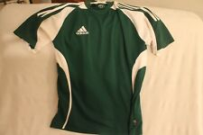 ADIDAS CLIMA 365 GREEN & WHITE # 6 SOCCER JERSEY YOUTH XL,ADULT MEDIUM