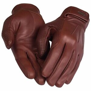 RAPHA Men's Tan Brown City Leather Full Finger Cycling Gloves M BNWT RRP140