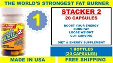 1x Bottle ( Stacker 2 ) 20x Capsules Bottle - Diet Energy Fat Burner Weight Loss