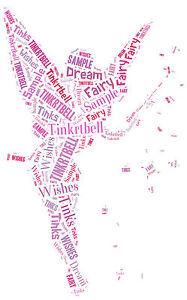 word art personalised gift present birthday Tinkerbell, Tinks, Fairy, Girls
