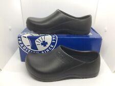 BIRKENSTOCK Womens Profi Birki Black Slip On Clogs Shoes Size 8 EU39 ZB6-1231