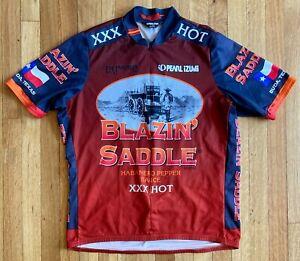 PEARL IZUMI CYCLING JERSEY - MEN'S XL - BLAZIN' SADDLE HOT SAUCE - BUDA, TEXAS