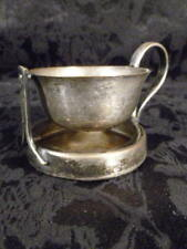 D.R.G.M. Silver plated Tea STRAINER ! Germany Finger holder