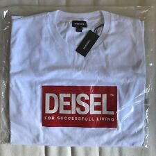 Deisel diesel white t-shirt limited edition nyc pop up shop go with the flaw d&g